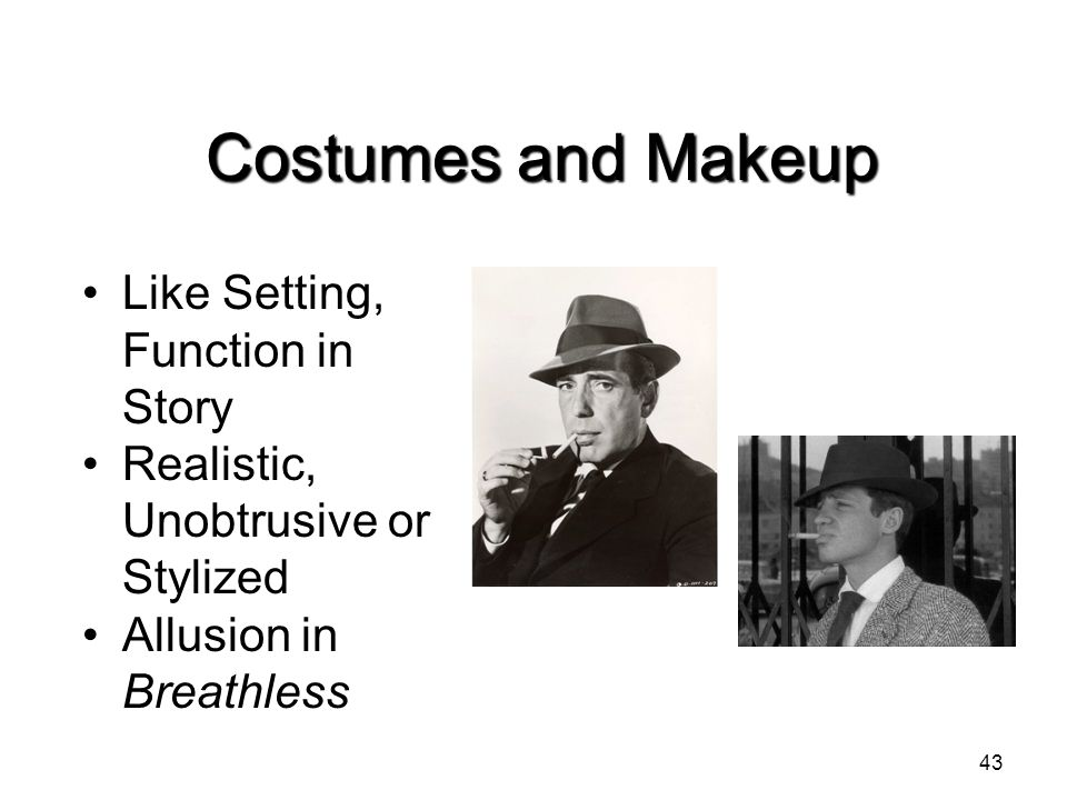 Costumes and Makeup Like Setting, Function in Story