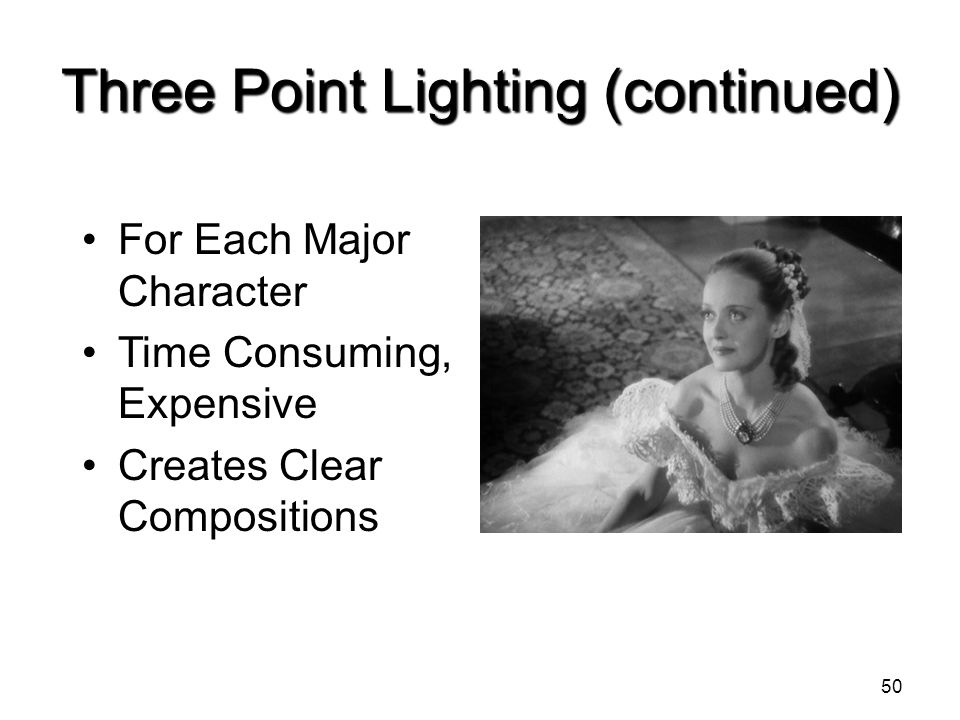 Three Point Lighting (continued)