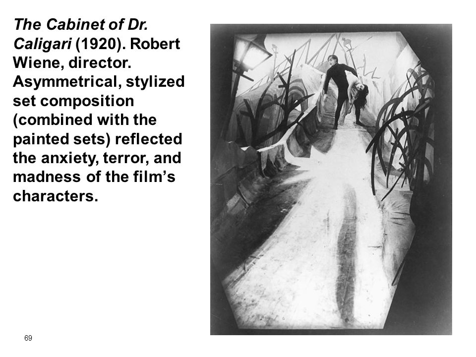 The Cabinet of Dr. Caligari (1920). Robert Wiene, director