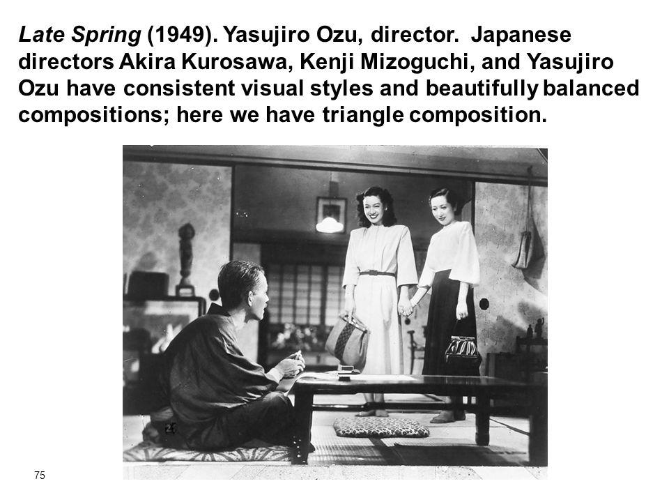 Late Spring (1949). Yasujiro Ozu, director
