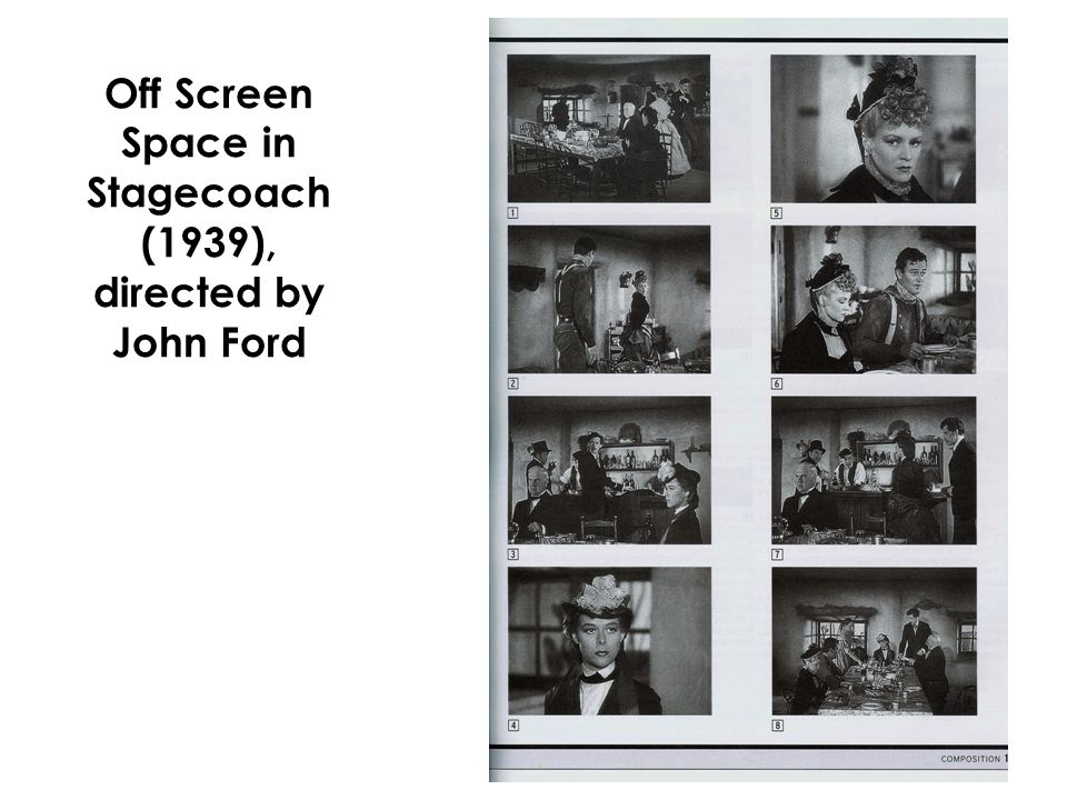 Off Screen Space in Stagecoach (1939), directed by John Ford