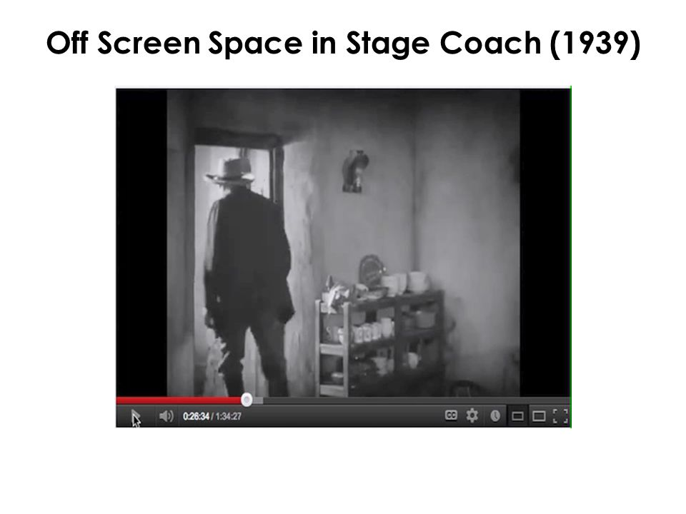 Off Screen Space in Stage Coach (1939)