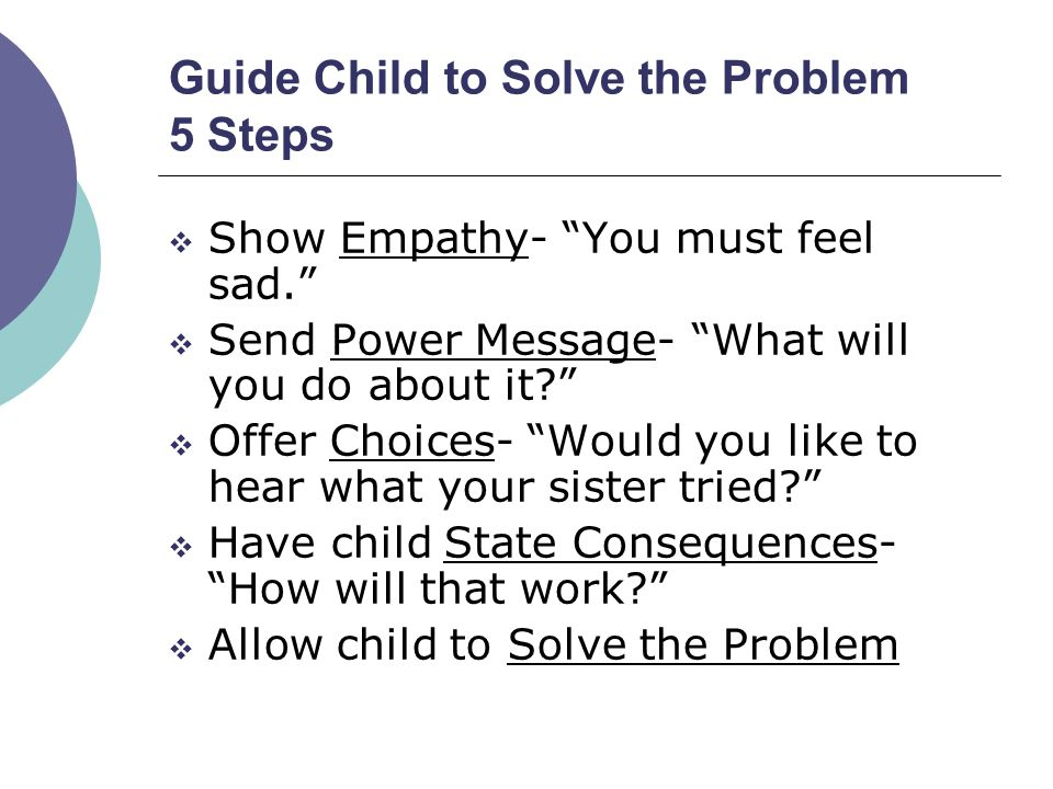 Guide Child to Solve the Problem 5 Steps