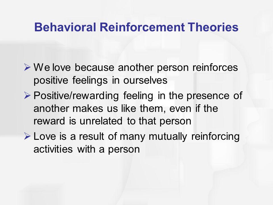 Behavioral Reinforcement Theories