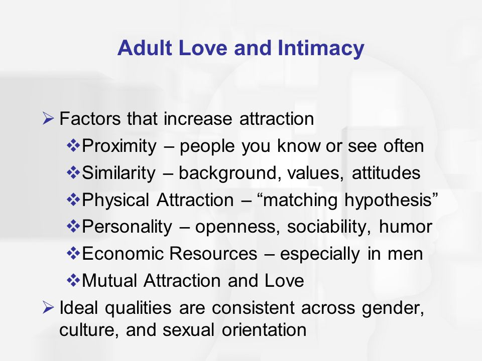 Adult Love and Intimacy