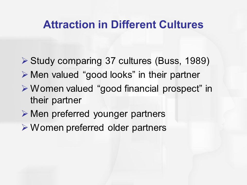 Attraction in Different Cultures