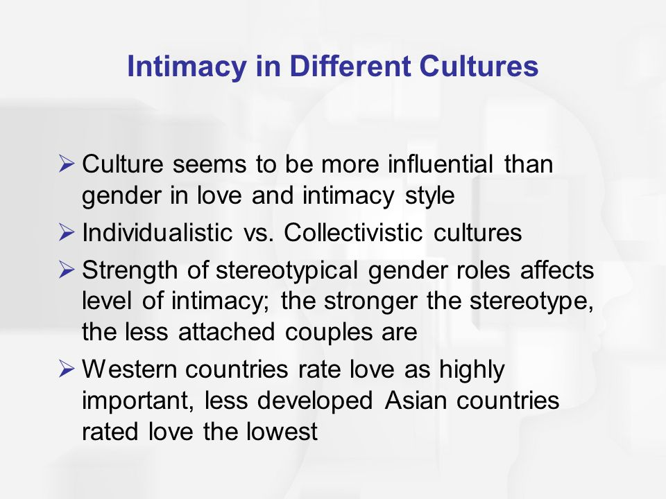 Intimacy in Different Cultures