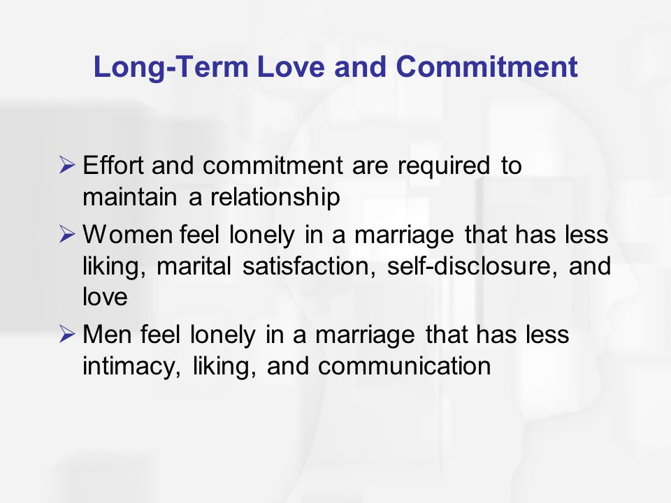 Long-Term Love and Commitment