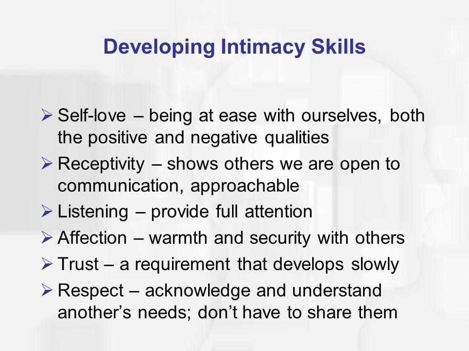 Developing Intimacy Skills