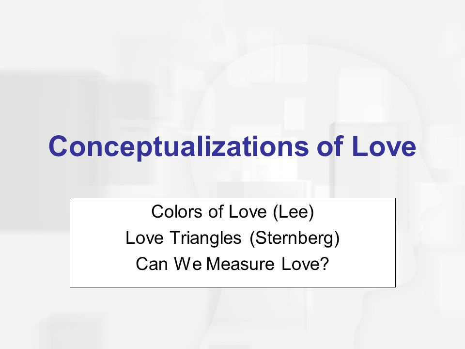 Conceptualizations of Love
