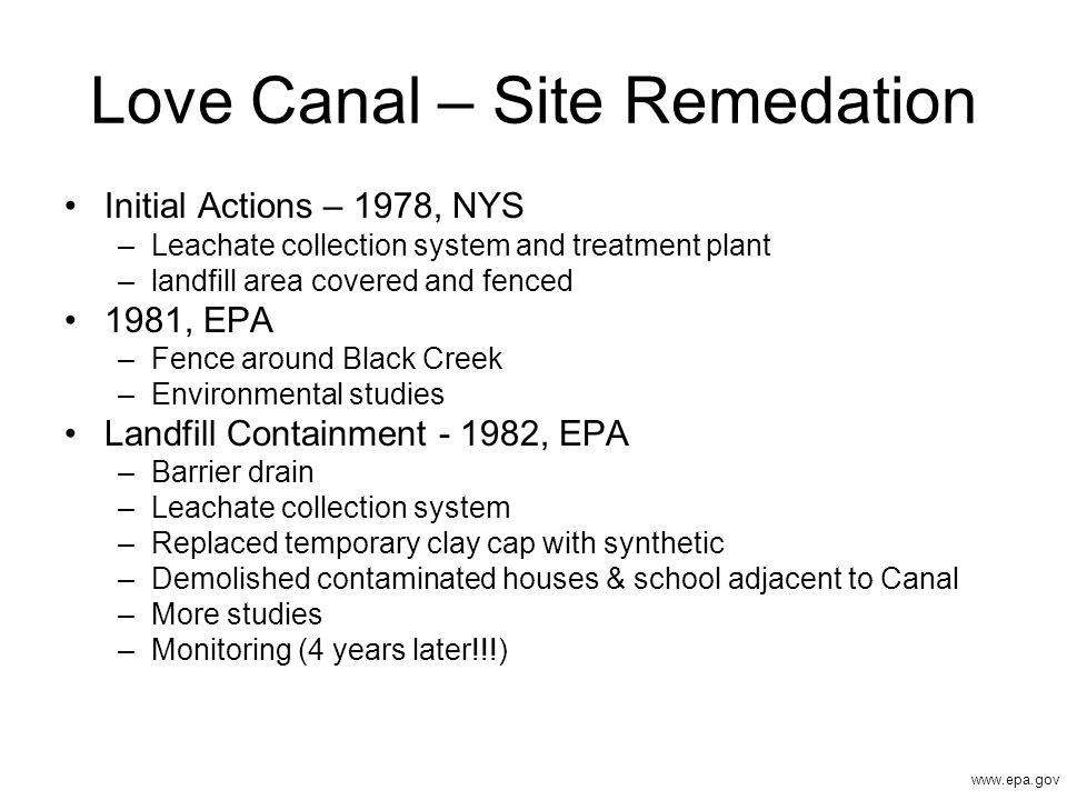 Love Canal – Site Remedation