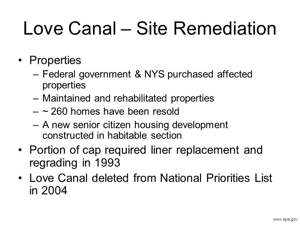 Love Canal – Site Remediation