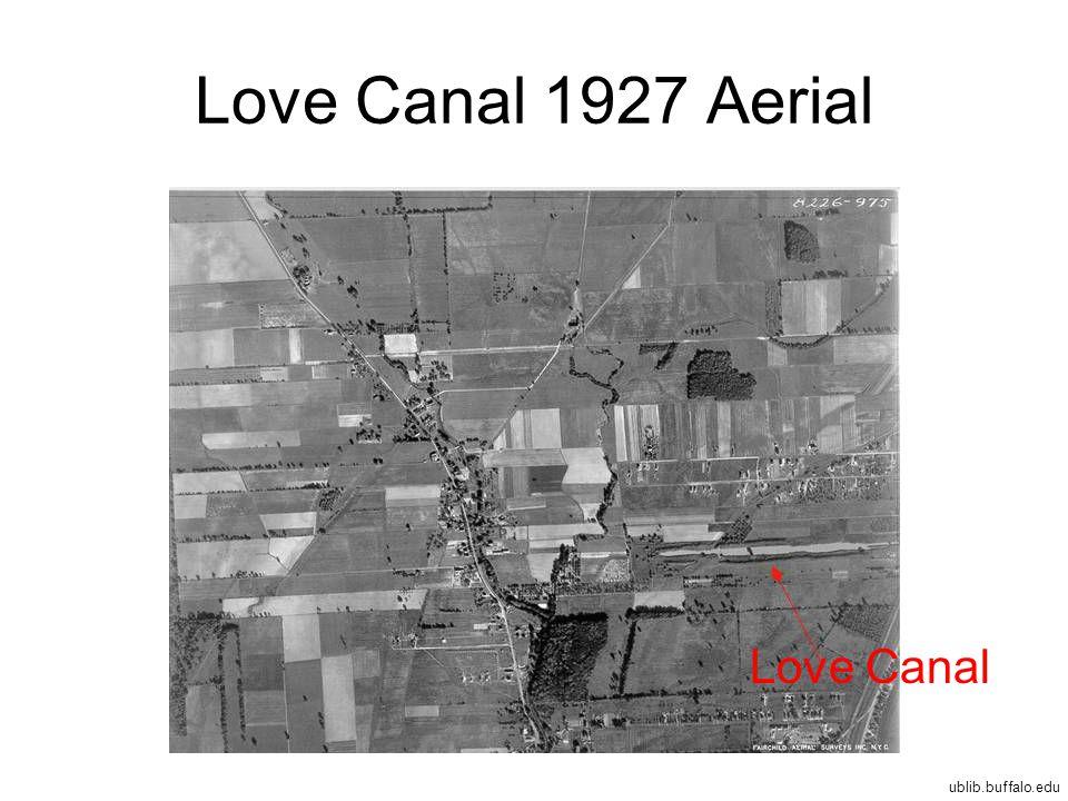 Love Canal 1927 Aerial Love Canal ublib.buffalo.edu