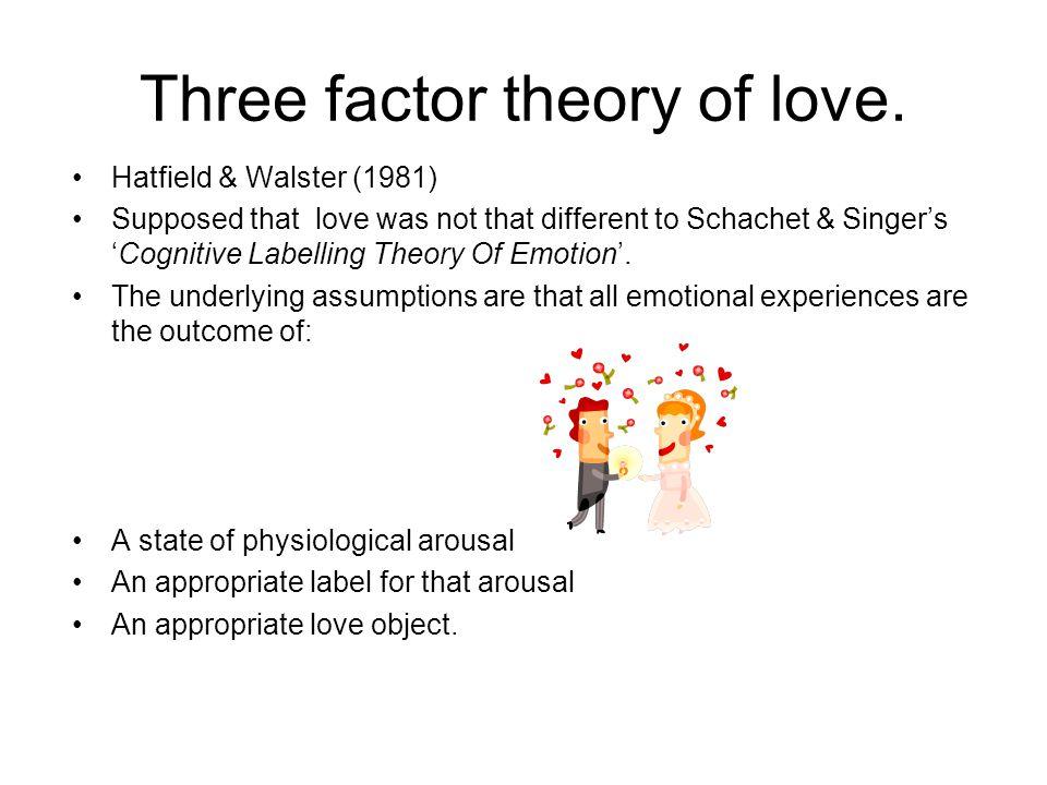 Three factor theory of love.
