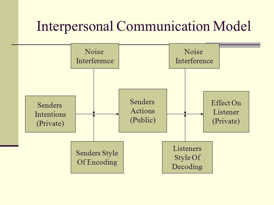 Interpersonal Communication Model