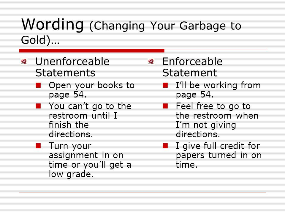 Wording (Changing Your Garbage to Gold)…