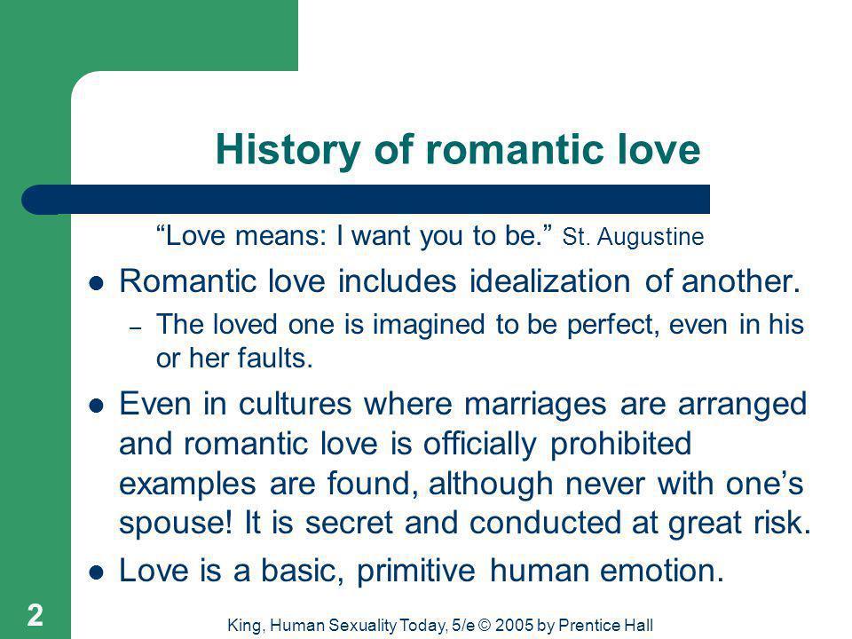 History of romantic love