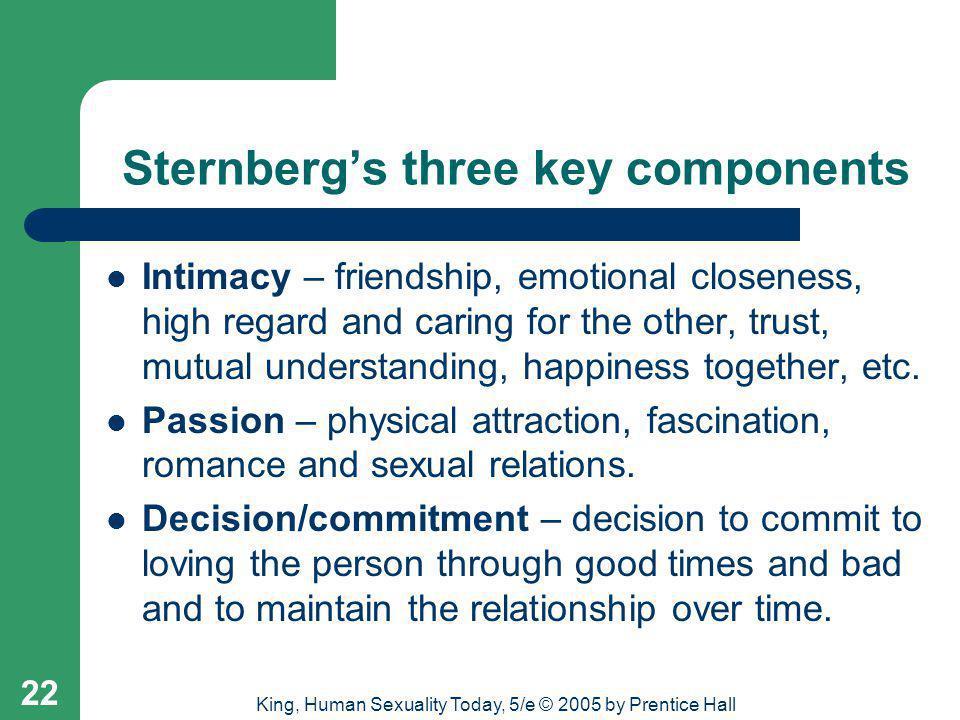 Sternberg's three key components