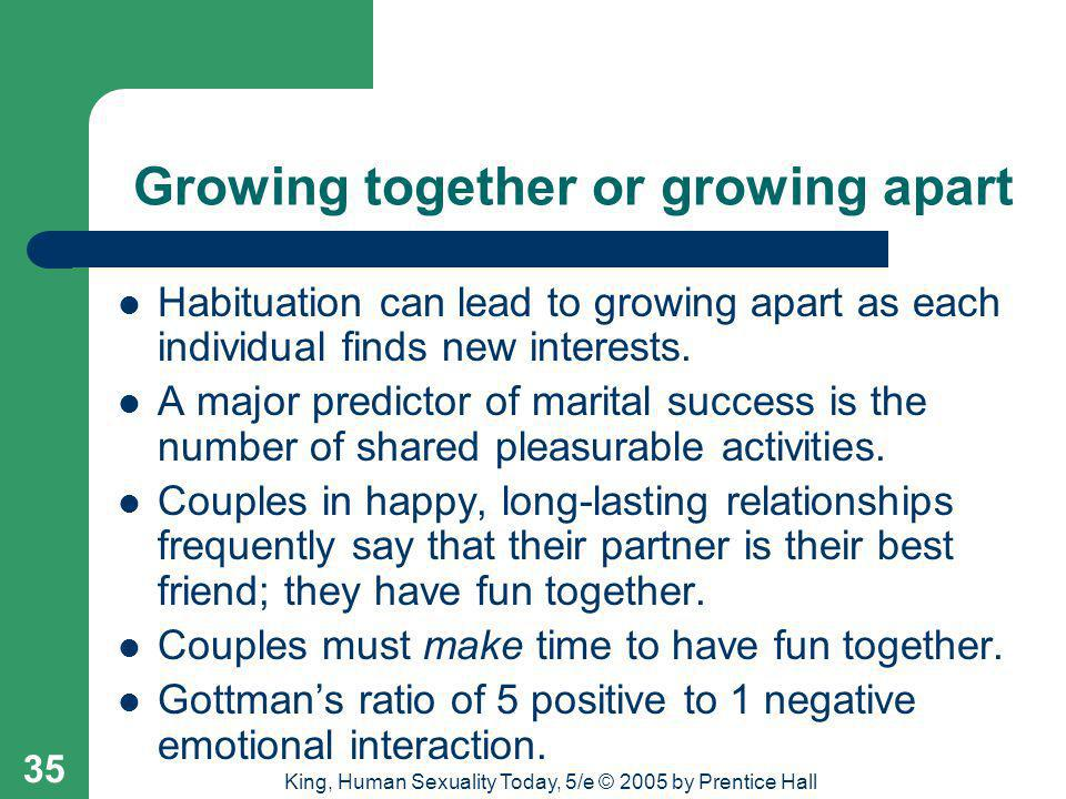 Growing together or growing apart