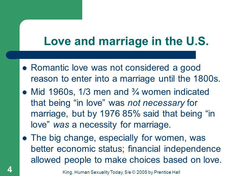 Love and marriage in the U.S.