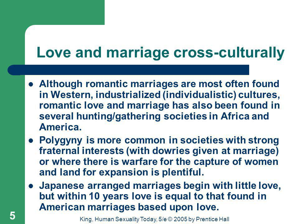 Love and marriage cross-culturally