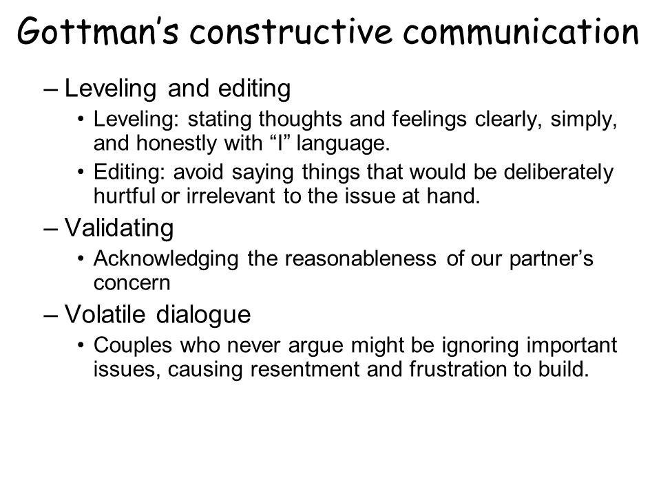 Gottman's constructive communication