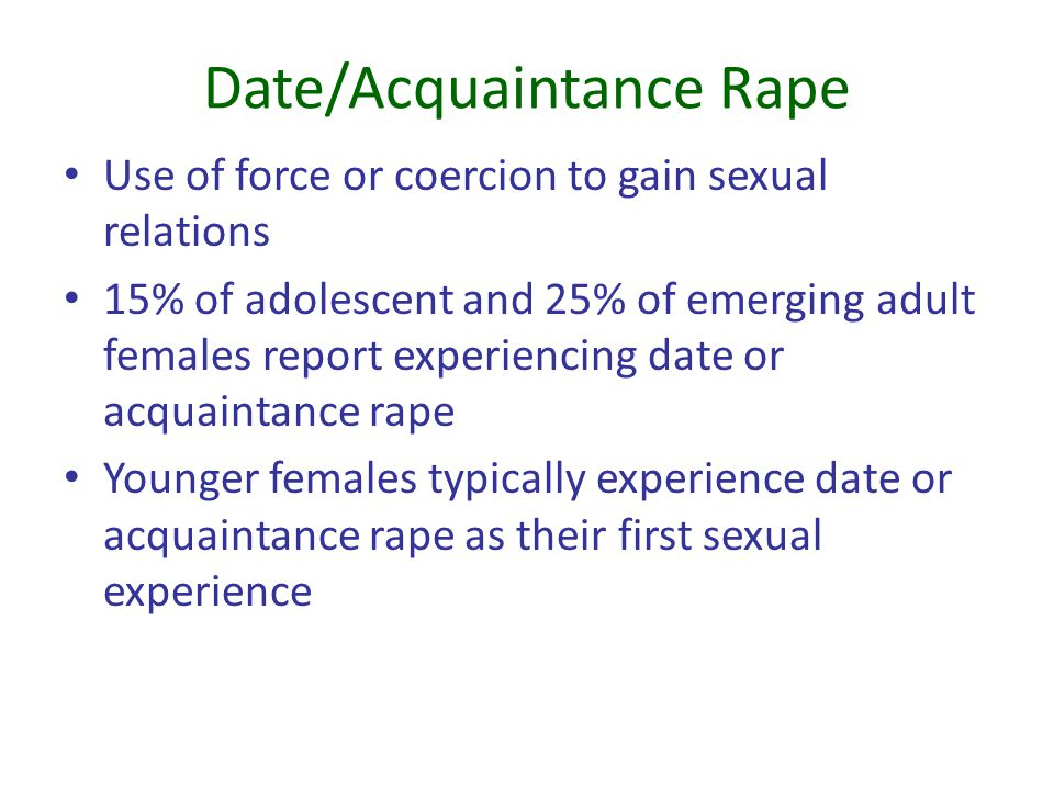 Date/Acquaintance Rape