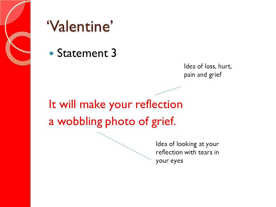 'Valentine' Statement 3 It will make your reflection