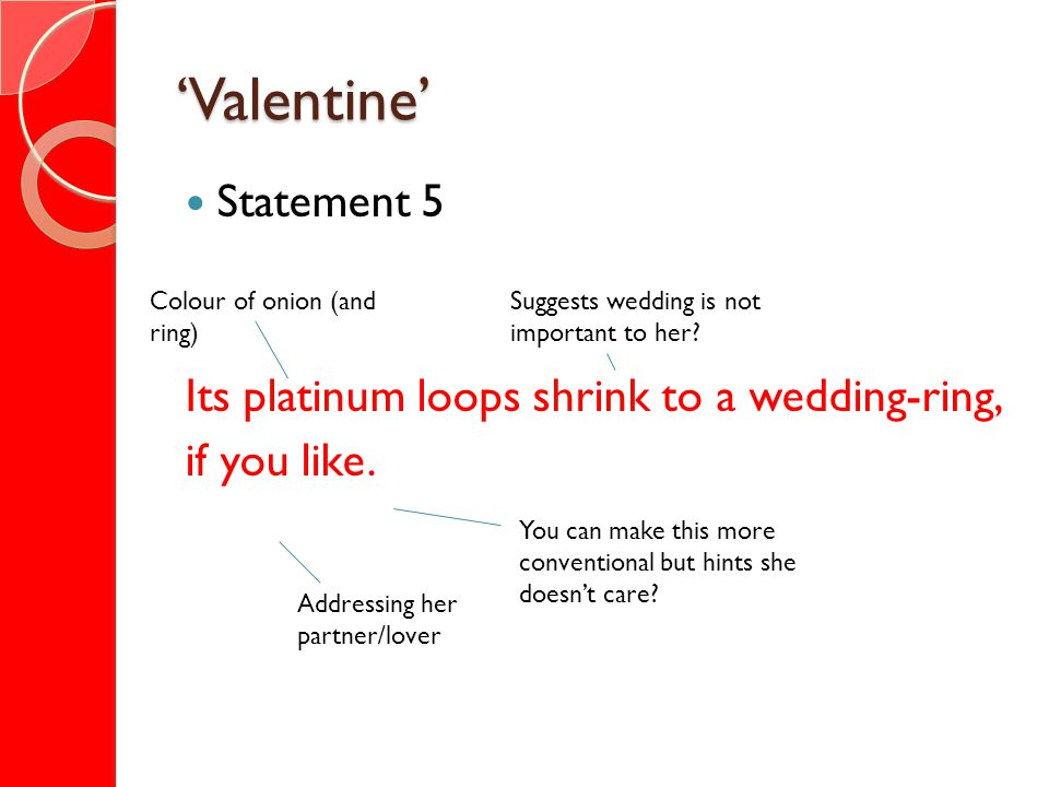 'Valentine' Statement 5 Its platinum loops shrink to a wedding-ring,
