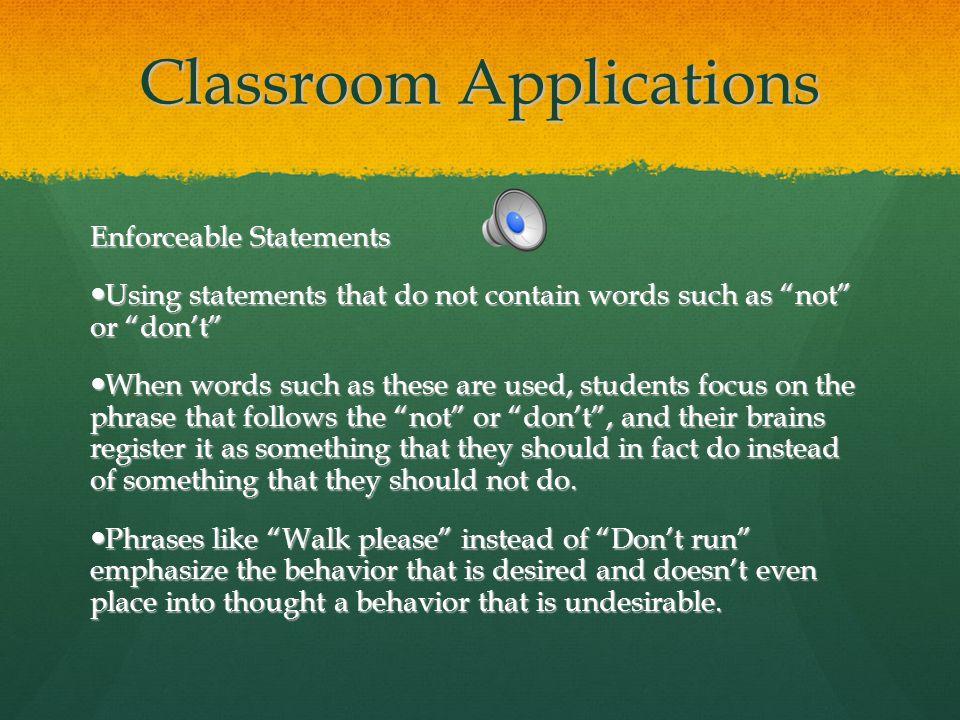 Classroom Applications