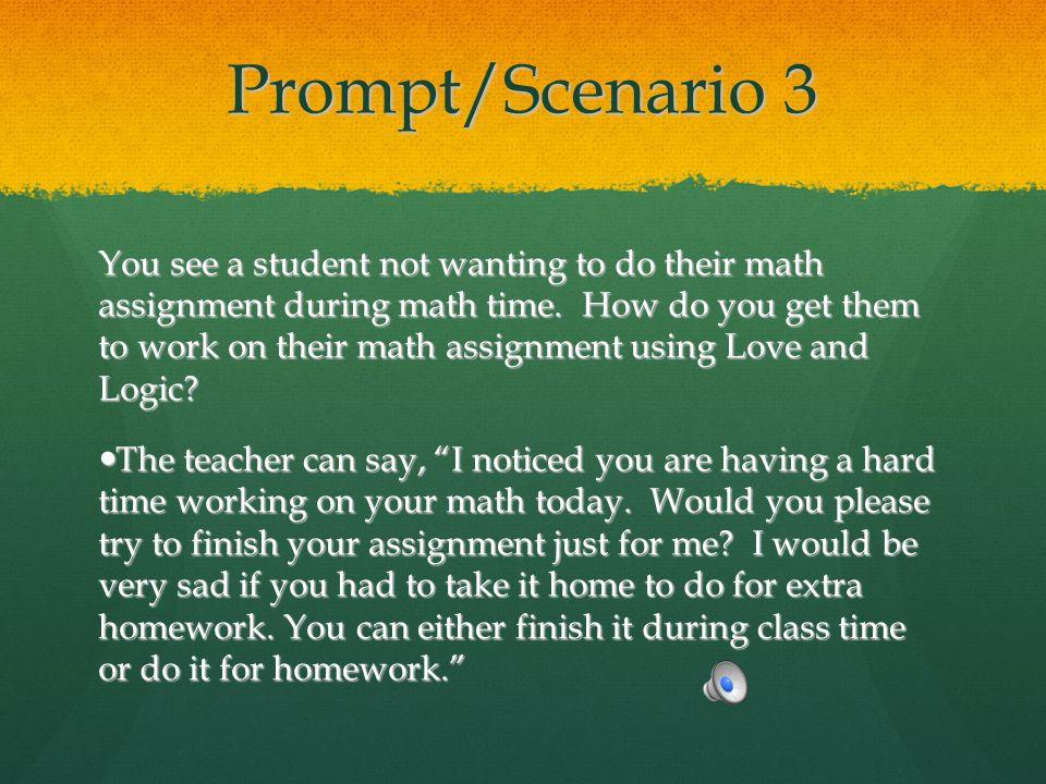 Prompt/Scenario 3