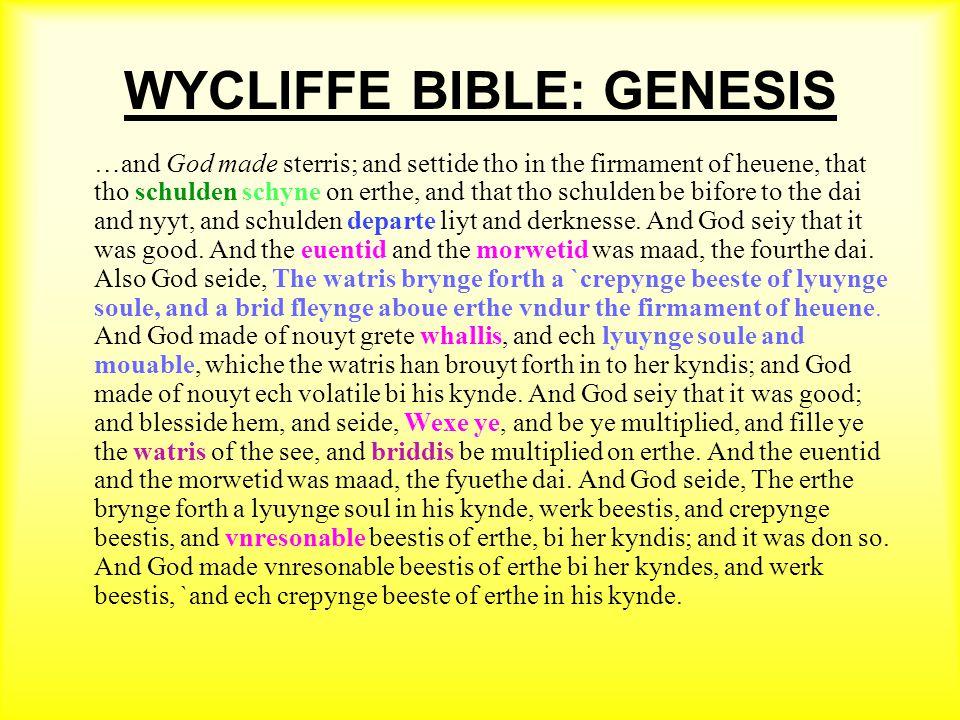 WYCLIFFE BIBLE: GENESIS