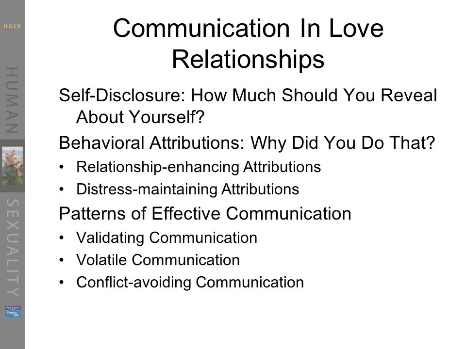 Communication In Love Relationships
