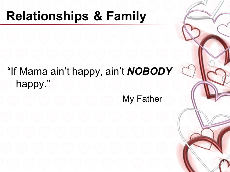 Relationships & Family