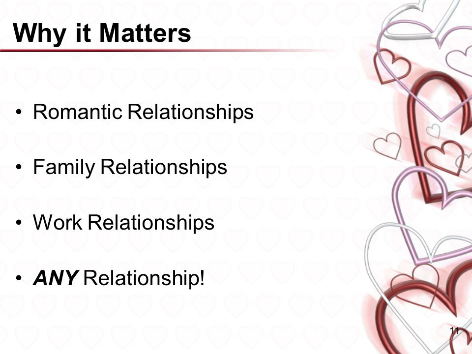 Why it Matters Romantic Relationships Family Relationships