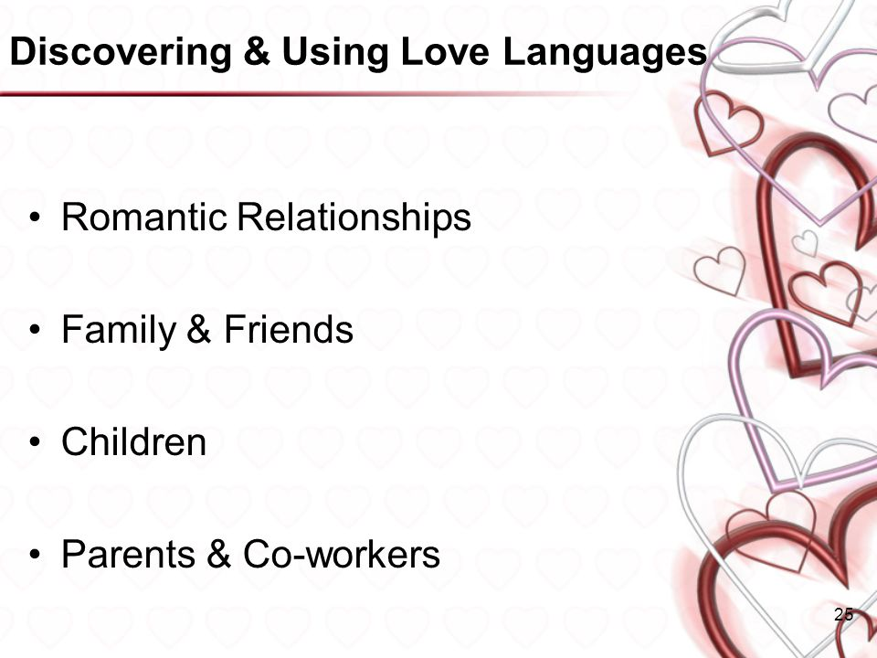Discovering & Using Love Languages
