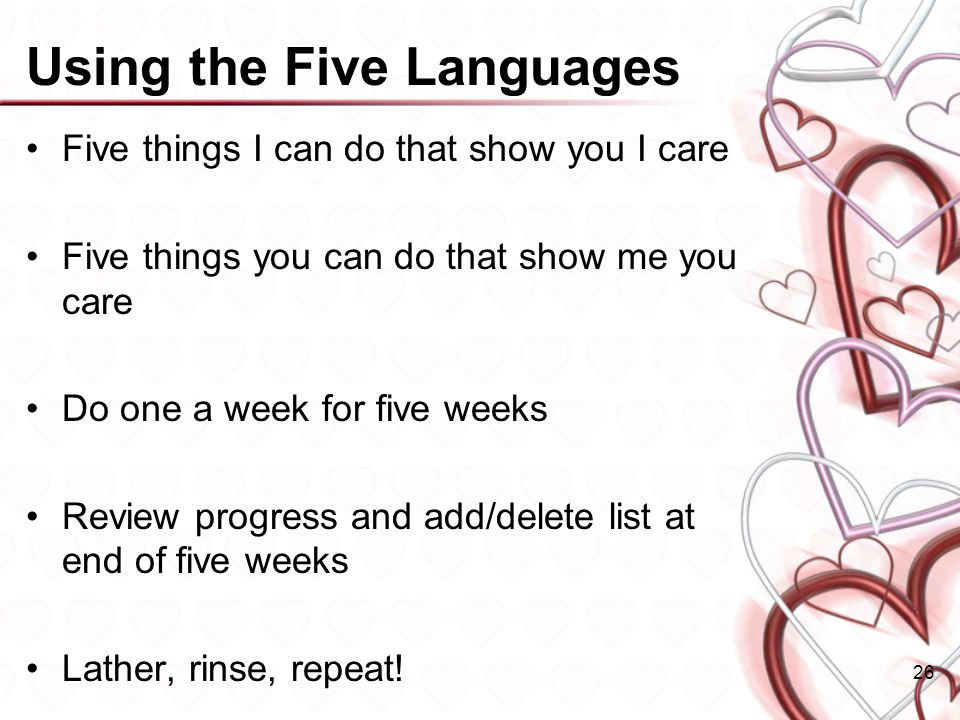 Using the Five Languages