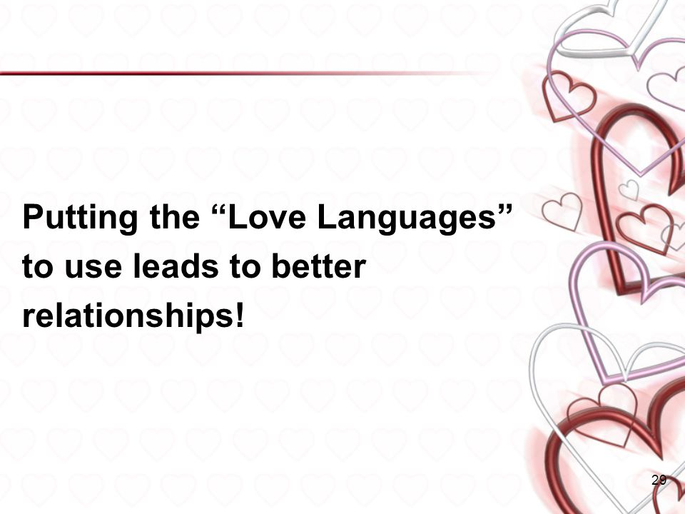 Putting the Love Languages