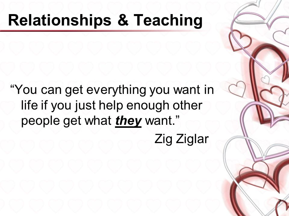 Relationships & Teaching
