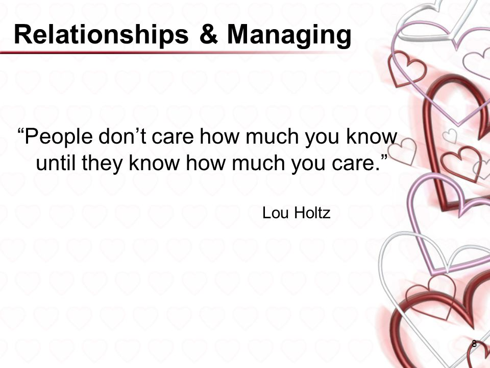 Relationships & Managing