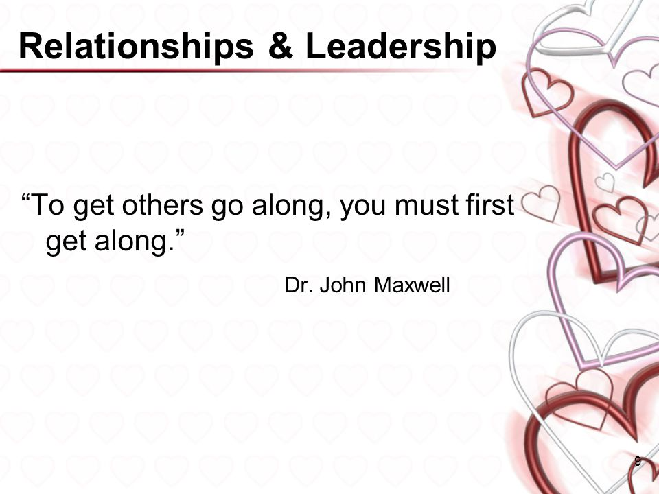 Relationships & Leadership