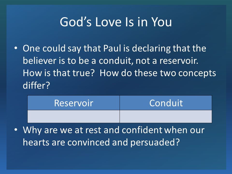 God's Love Is in You