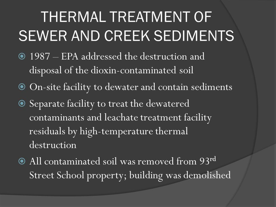 THERMAL TREATMENT OF SEWER AND CREEK SEDIMENTS