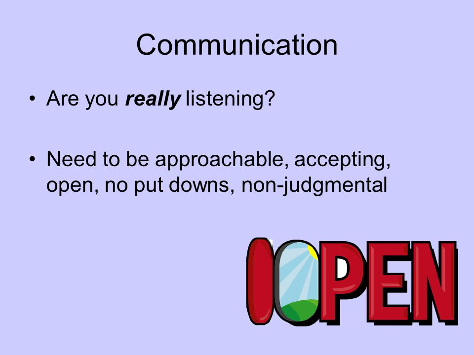 Communication Are you really listening