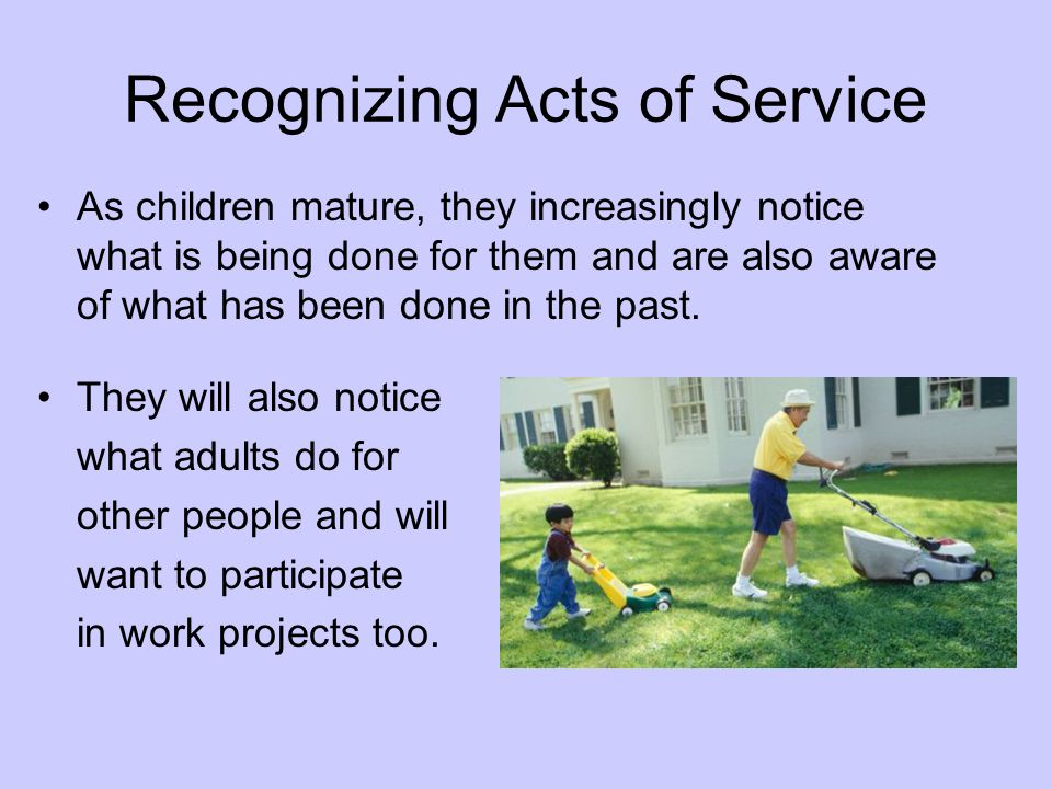 Recognizing Acts of Service