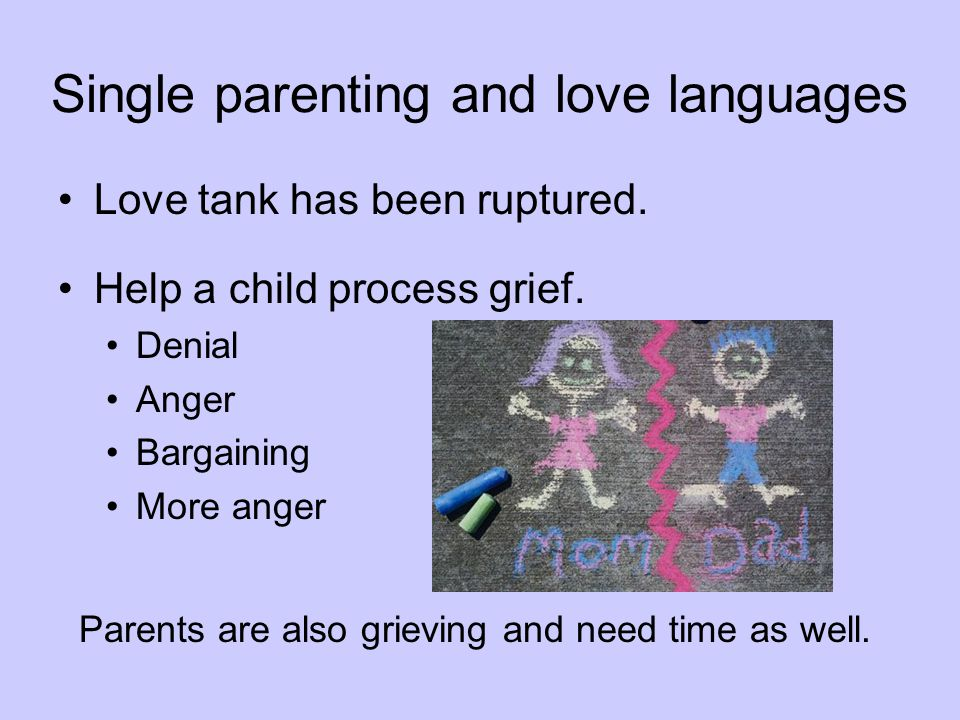 Single parenting and love languages