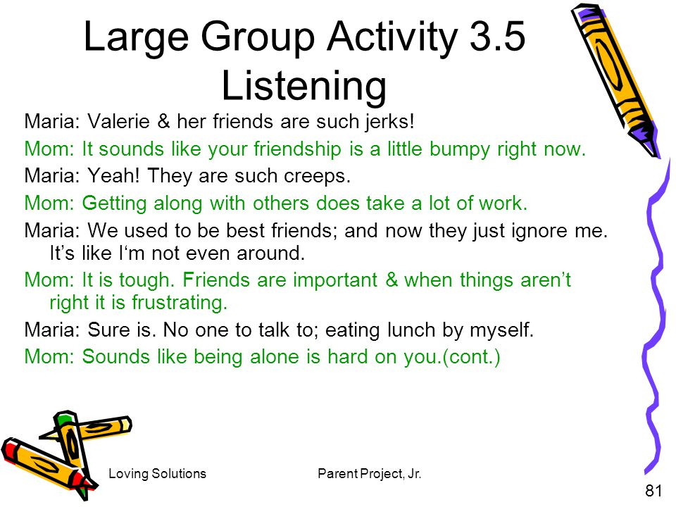 Large Group Activity 3.5 Listening