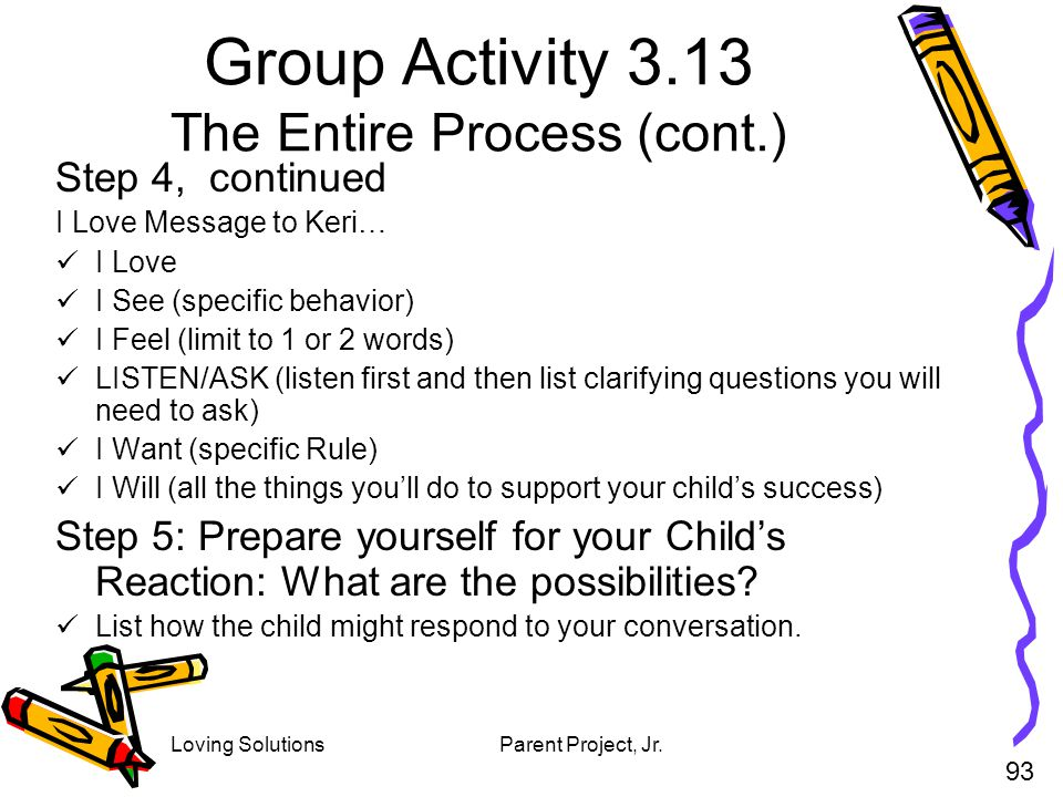 Group Activity 3.13 The Entire Process (cont.)
