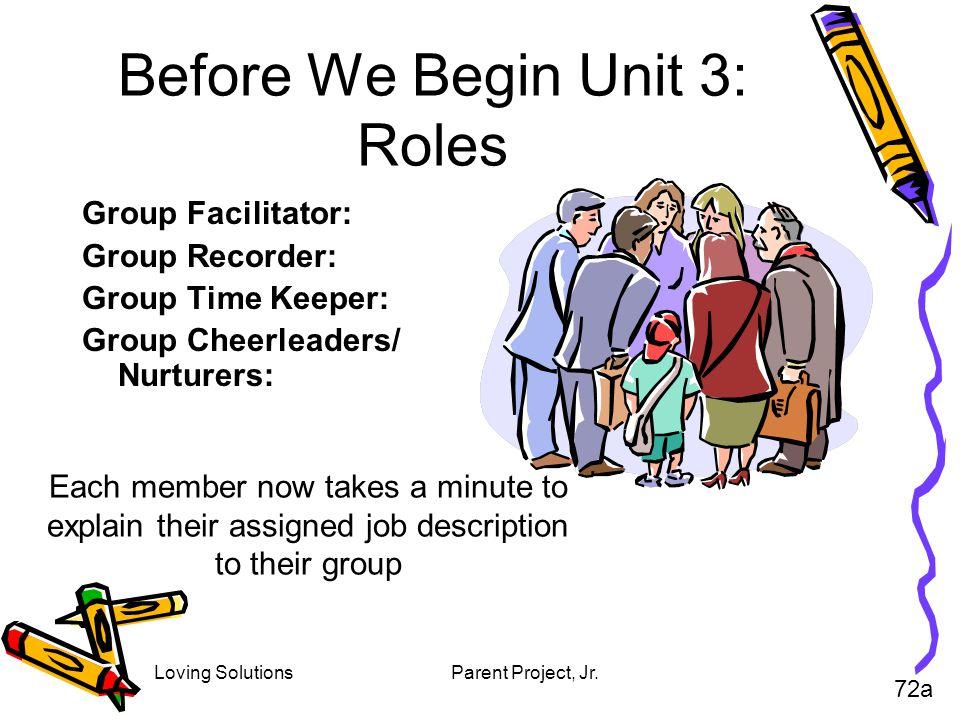 Before We Begin Unit 3: Roles