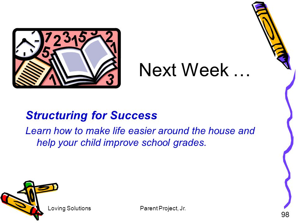 Next Week … Structuring for Success